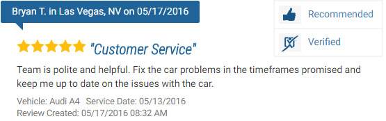 Five Star Review for an Audi Repair Service