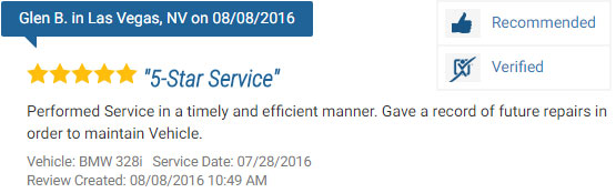 Five Star Review for a BMW Repair