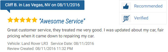 Five Star Review for a Repair on a Land Rover