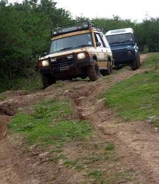 Land Rovers Offroading